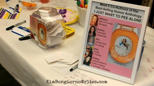 A raffle at the VT #PeeAlone book signing via @TheKimBongiorno