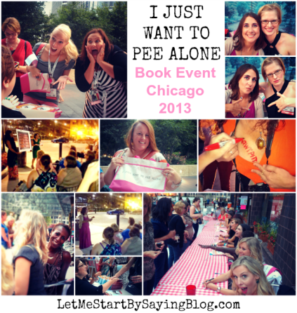 Chicago Kim Bongiorno @LetMeStart #PeeAlone Event 2013