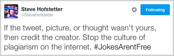 Steve Hofstetter #JokesArentFree on Twitter