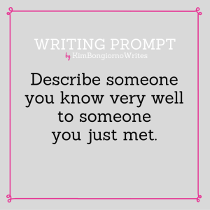 Writing prompt by KimBongiornoWrites #amwriting | writing exercises
