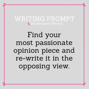 Writing prompt by KimBongiornoWrites #amwriting | writing exercises, op-ed, personal essays