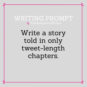 Writing prompt by KimBongiornoWrites #amwriting | twitter
